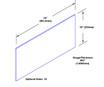 10in x 34in - .063, Tread Brite, Mirror Finish, Diamond Plate Kick Plates - On Door - Drawing