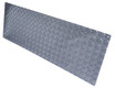 8in x 33in - .063, Tread Brite, Mirror Finish, Diamond Plate Mop Plates - Side View - Countersunk Holes