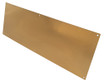 10in x 27in - .063, Muntz, Satin #4 (Brushed) Finish, Brass Kick Plates - Side View - Countersunk Holes