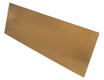 8in x 22in - .063, Muntz, Satin #4 (Brushed) Finish, Brass Mop Plates - Close Up - Countersunk Holes