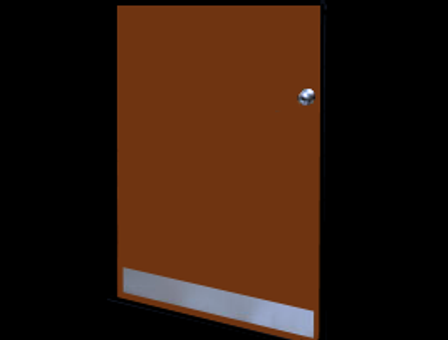 8in x 25in - .080, 5005, Anodized Satin Finish, Aluminum Mop Plates - On Door