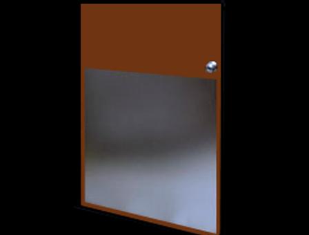 28in x 28in - .080, 5005, Anodized Satin Finish, Aluminum Armor Plates - On Door