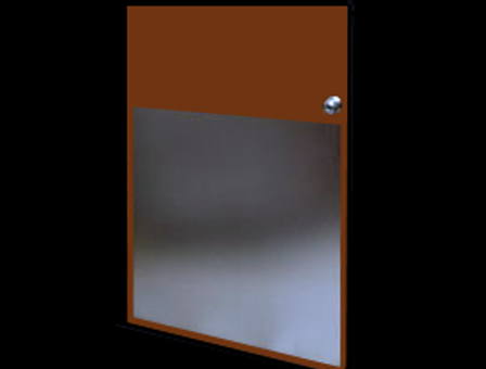 32in x 23in - .080, 5005, Anodized Satin Finish, Aluminum Armor Plates - On Door