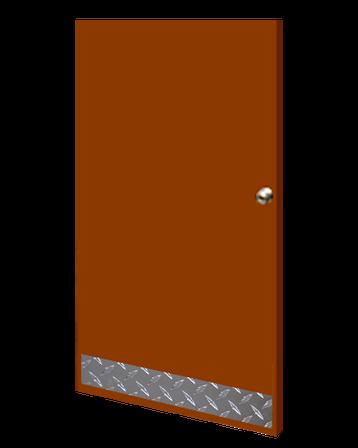 6in x 23in - .125, Tread Brite, Mirror Finish, Diamond Plate Mop Plates - On Door