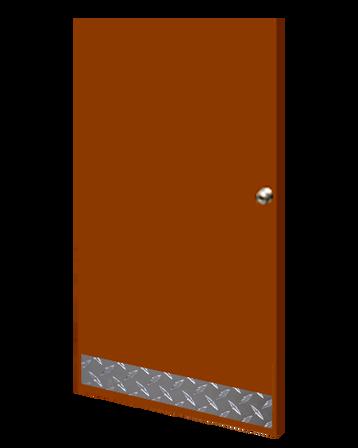 8in x 37in - .125, Tread Brite, Mirror Finish, Diamond Plate Mop Plates - On Door