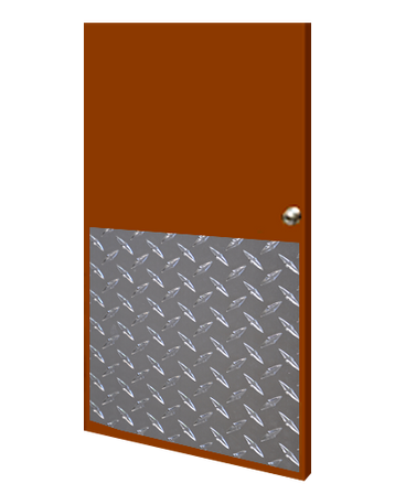 32in x 34in - .125, Tread Brite, Mirror Finish, Diamond Plate Armor Plates - On Door