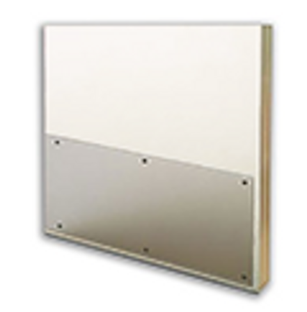 32in x 32in .042in, Clear, Polycarbonate Kick Plate with Holes & Screws