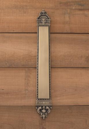 LftEnfant Push Plate 3in x 23-3/8in, Antique Brass