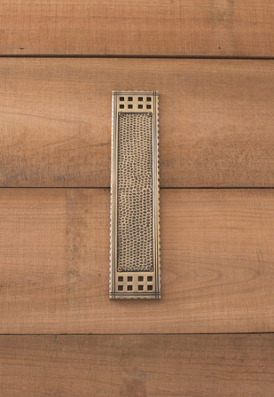 Arts & Crafts Push Plate 2-1/2in x 11-1/4in, Antique Brass