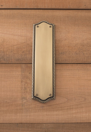 Trafalgar Push Plate 2-3/4in x 11in, Antique Brass