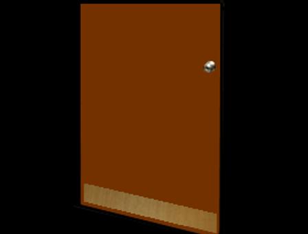 6in x 30in - .063, Muntz, Mirror Finish, Brass Mop Plates - On Door