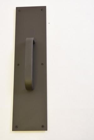 Commercial Push Plate 4in X 16in W/Pull, Venetian Bronze