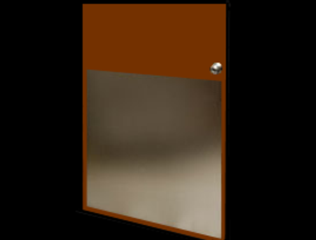 32in x 32in - 16ga, Brushed, Stainless Steel Armor Plate - On Door