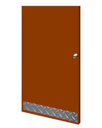 8in x 36in - .063, Tread Brite, Mirror Finish, Diamond Plate Mop Plates - On Door