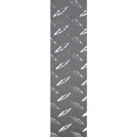 12in x 4in, .063, Brushed Finish, Diamond Plate Push Plate