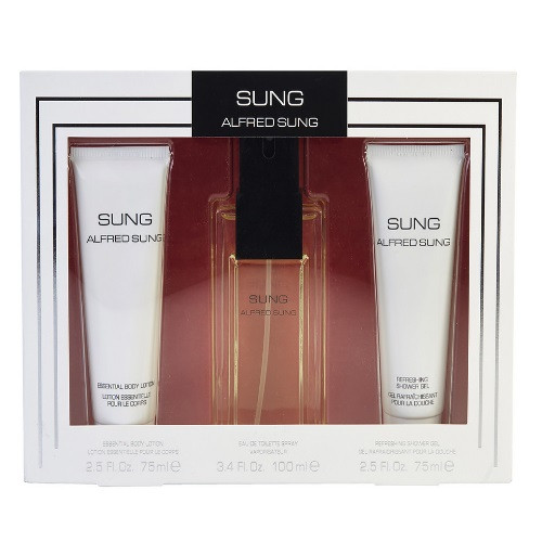 Sung by Alfred Sung 3pc Gift Set EDP 3.4 oz + Body Lotion 2.5 oz + Shower Gel 2.5 oz for Women