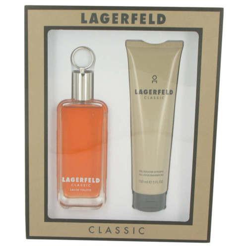 Lagerfeld by Karl Lagerfeld 2pc Gift Set EDT 3.3 oz + Shower Gel 5.0 oz For Men