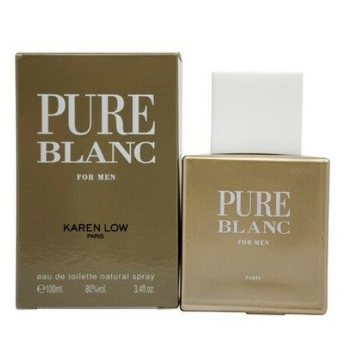 Pure Blanc by Karen Low 3.4 oz EDT for men