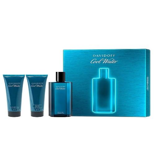 Cool Water by Davidoff 3pc Gift Set EDT 4.2 oz + After Shave Balm 2.5 oz + Shower Gel 2.5 oz for Men