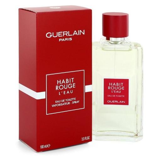 Habit Rouge L'eau by Guerlain 3.3 oz EDT for Men