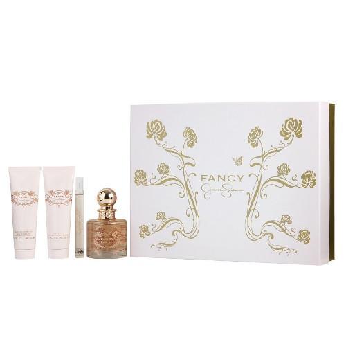 Fancy by Jessica Simpson 4pc Gift Set EDP 3.4 oz + Body Lotion + Shower Gel + Mini for Women