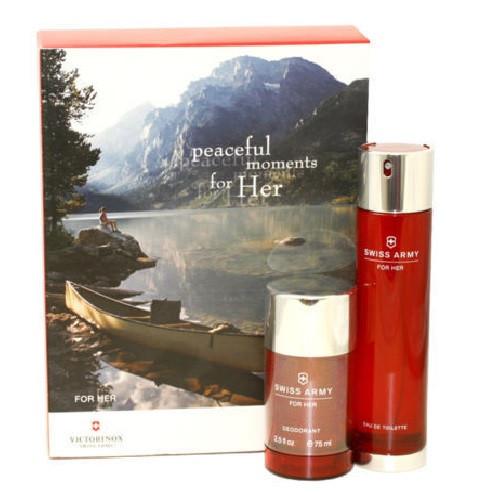 Swiss Army Women by Victorinox 2pc Gift Set for women 3.4 oz EDT + 2.5 oz Deodorant Stick