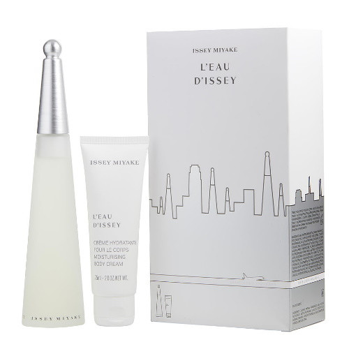 L'eau D'Issey by Issey Miyake 2pc Gift Set 3.3 oz EDT + Body Cream 2.6 oz