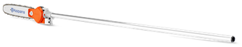 Pole saw attachment for combi trimmers. Gives extra reach when needed. Cuts branches up to approximately 15 cm in thickness. Length - 153cm, Tube Length - 110cm