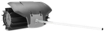 Sweeper attachment for combi products. Rubber broom with large capacity that cleans sand and gravel from paths, driveways and lawns. Guard is included. Shaft diameter 24 mm.