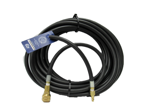 """1/4"""" X 50' BREATHING AIR HOSE**230PSI** CPLD ( female quick connect) 3000SL BRASS WITH LOCKING SLEEVE X (male quick connect) DCP20B"""
