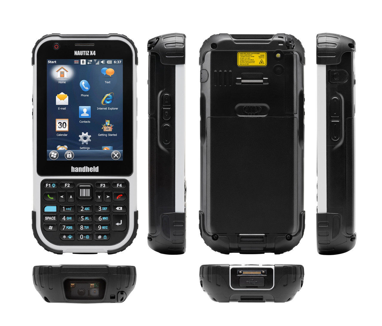 NAUTIZ ETICKET PRO II, Texas Instruments AM3715 1 GHz, 512 MB / 1 GB, Rear Cam, 2D Imager, Windows Embedded Handheld 6.5 / Android 4.2.2