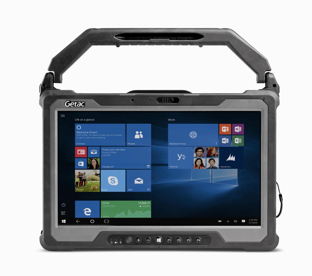 Getac A140 Basic,Intel Core i5-6200U Processor 2.3GHz,(No Webcam),Microsoft Windows 10 Pro x64 with 8GB RAM,256GB SSD,Sunlight Readable (LCD+ Touchscreen),US Power Cord,Wifi+BT,Micro SD, LAN x 2, Smart Card reader, Default -21C, IP65