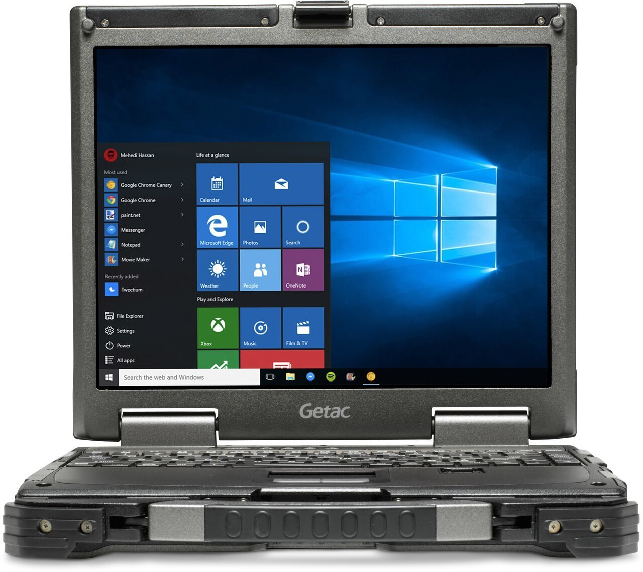 """Getac B300 G7 ,Intel Core i5-8250U Processor 1.6GHz,13.3"""" (Without Webcam),Win10 Pro x64 with 8GB RAM ,256GB SSD,Sunlight Readable (LCD+Touchscreen),US KBD,Membrane Backlit KBD,Wifi+BT+GPS+Passthrough,HDMI,PCMCIA, Express Card 54, SD Card Reader, TPM"""