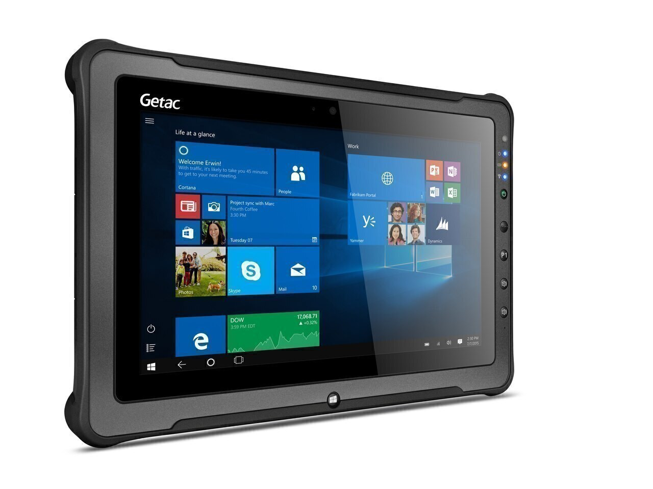 "Getac F110 G4 Basic,Intel Core i5-7200U Processor 2.5GHz,11.6"" With Webcam,Microsoft Windows 10 Pro x64 with 16GB RAM,256GB SSD,Sunlight Readable (Full HD LCD+ Touchscreen) ,AC Adapter + US Power Cord,Rear Camera,WiFi + BT,Barcode Reader"