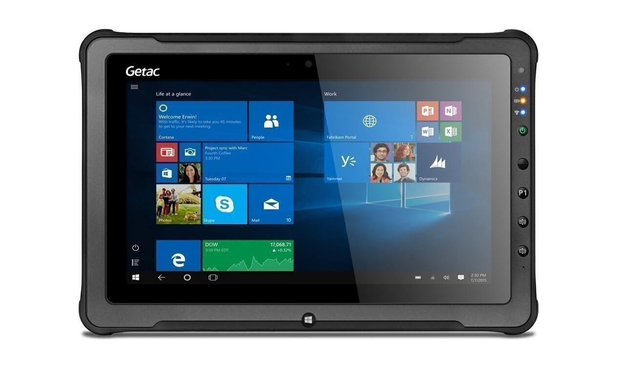 "Getac F110 G4 Basic,Intel Core i7-7500U Processor 2.7GHz, 11.6"" With Webcam,Microsoft Windows 10 Pro x64 with 16GB RAM,256GB SSD,Sunlight Readable (Full HD LCD+ Touchscreen) ,AC Adapter + US Power Cord,Rear Camera,WiFi + BT,Barcode Reader"