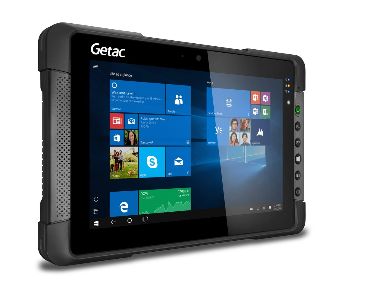 "Getac T800 G2 Basic USA,Intel Atom Processor x7-Z8750,8.1""+Webcam,Microsoft Windows 10 Pro x64 with 4GB RAM ,64GB eMMC,Sunlight Readable (LCD+Touchscreen),US Power cord,8M Rear Camera,Wifi+BT,RJ45,TPM 2.0"