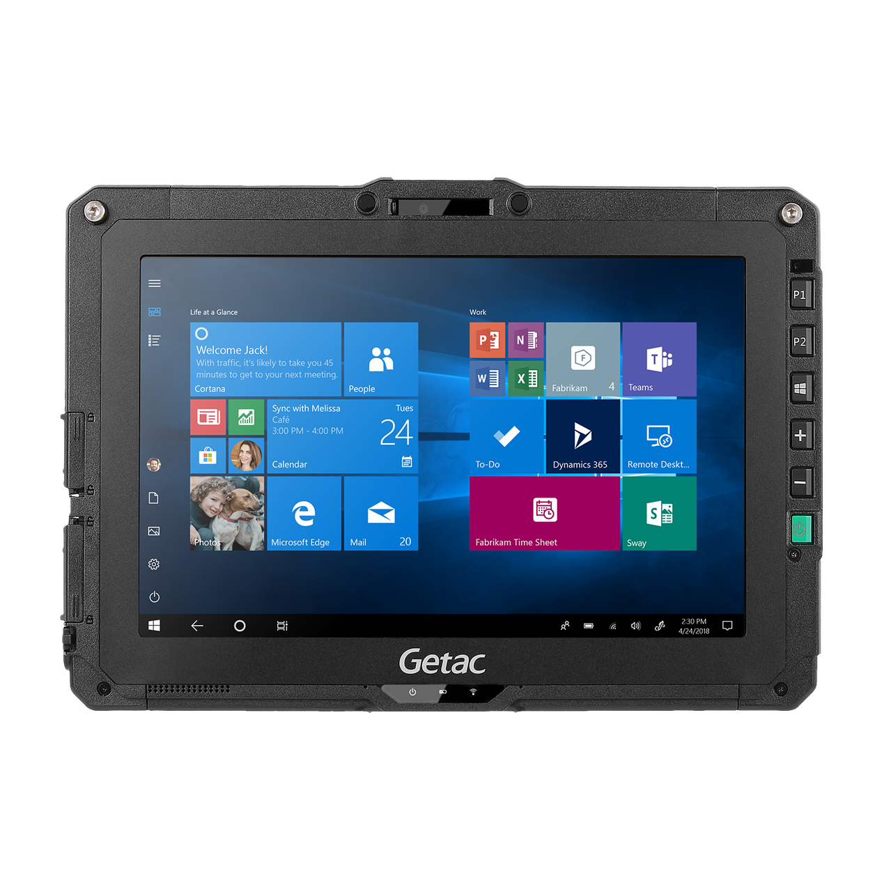 Getac UX10,Intel Core i5-8265U Processor 1.6GHz,With Webcam,Microsoft Windows 10 Pro x64 with 8GB RAM,256GB SSD,Sunlight Readable Full HD LCD + Touchscreen + Hard Tip stylus + Rear Camera,AC Adapter + US Power Cord,Wifi + BT,1D/2D Imager Barcode Read