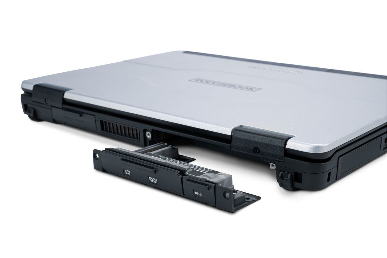 FZ-55 Rear Expansion Area can host one of the following combo ports: (VGA, Serial and 4th USB 3.0),  (VGA, Serial and 2nd LAN), or (VGA, Serial and Rugged USB 2.0)