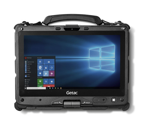 """Getac V110 G4,Intel Core i5-7300U vPro Processor,11.6"""" With Webcam, Win10 Pro x64 with 8GB RAM ,128GB SSD,Sunlight Readable (Full HD LCD+ Touchscreen+ Digitizer) , Backlit KBD with Rear Camera,WIFI+ BT+GPS + 4G LTE,Dual batteries, TouchPad W/ Click B"""