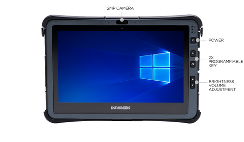 "Durabook U11 Basic i5, 11.6"" FHD (1920 x1080) Touchscreen Display, Intel® Core™ i5-10210Y Processor 1.0 GHz up to 4.0 GHz, Win10 Pro, 8GB RAM, 128GB SSD, 802.11a/b/g/n/ac Wireless, Bluetooth 5.0, 2MP Front Camera, USB3.1 + USB3.1, IP65, 3-Year Warran"