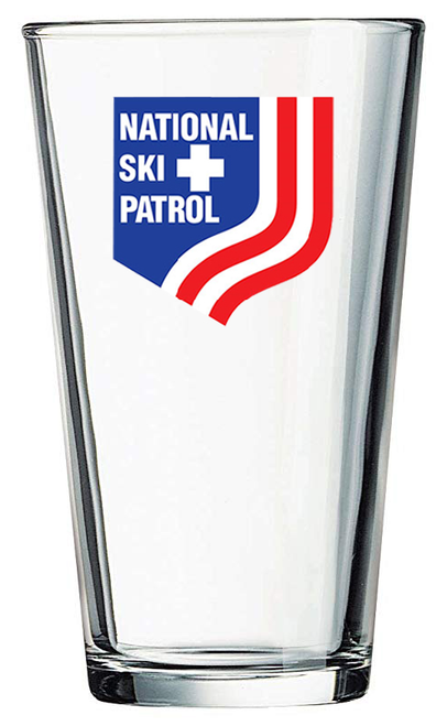 National Ski Patrol – Pint Glass with Full-Color NSP Shield