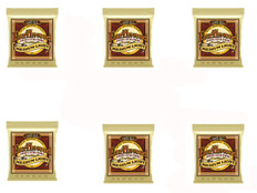 Ernie Ball 2003 Medium Light Earthwood 80/20 Bronze Acoustic Guitar Strings 6 Pack Special