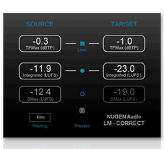 Nugen Audio LM-Correct 2  Loudness quick-fix tool