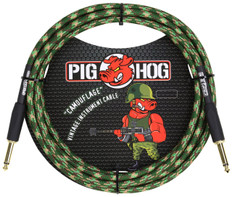 """Pig Hog """"Camoflage"""" Instrument Cable, 10ft 1/4"""" S- 1/4"""" S"""