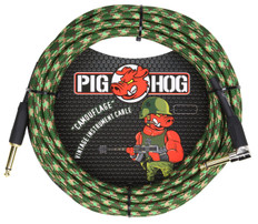 """Pig Hog """"Camouflage"""" Instrument Cable, 20ft Right Angle"""