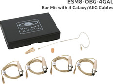 Galaxy Audio ESM8 Omnidirectional Lightweight Headset Microphone w/ TA3F Connection