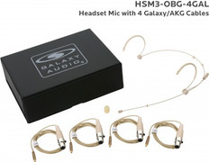 Galaxy Audio HSM3 Omni-Directional Headset Microphone with TA3F Connection