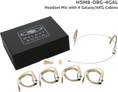Galaxy Audio HSM8 Omni-Directional Headset Microphone with TA3F Connection