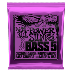 Ernie Ball 2821 Power Slinky Nickel Wound 5 String Bass Guitar Strings