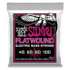 Ernie Ball 2814 Super Slinky Flatwound Bass Guitar Strings